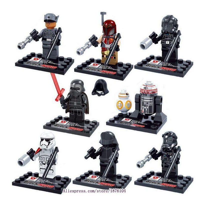 8 pcs legoeINGly Star Wars, Le Réveil de La Force Mini Blocs De Construction Chiffres Modèle Jouets Pour Enfants Super-Héros Briques Juguetes