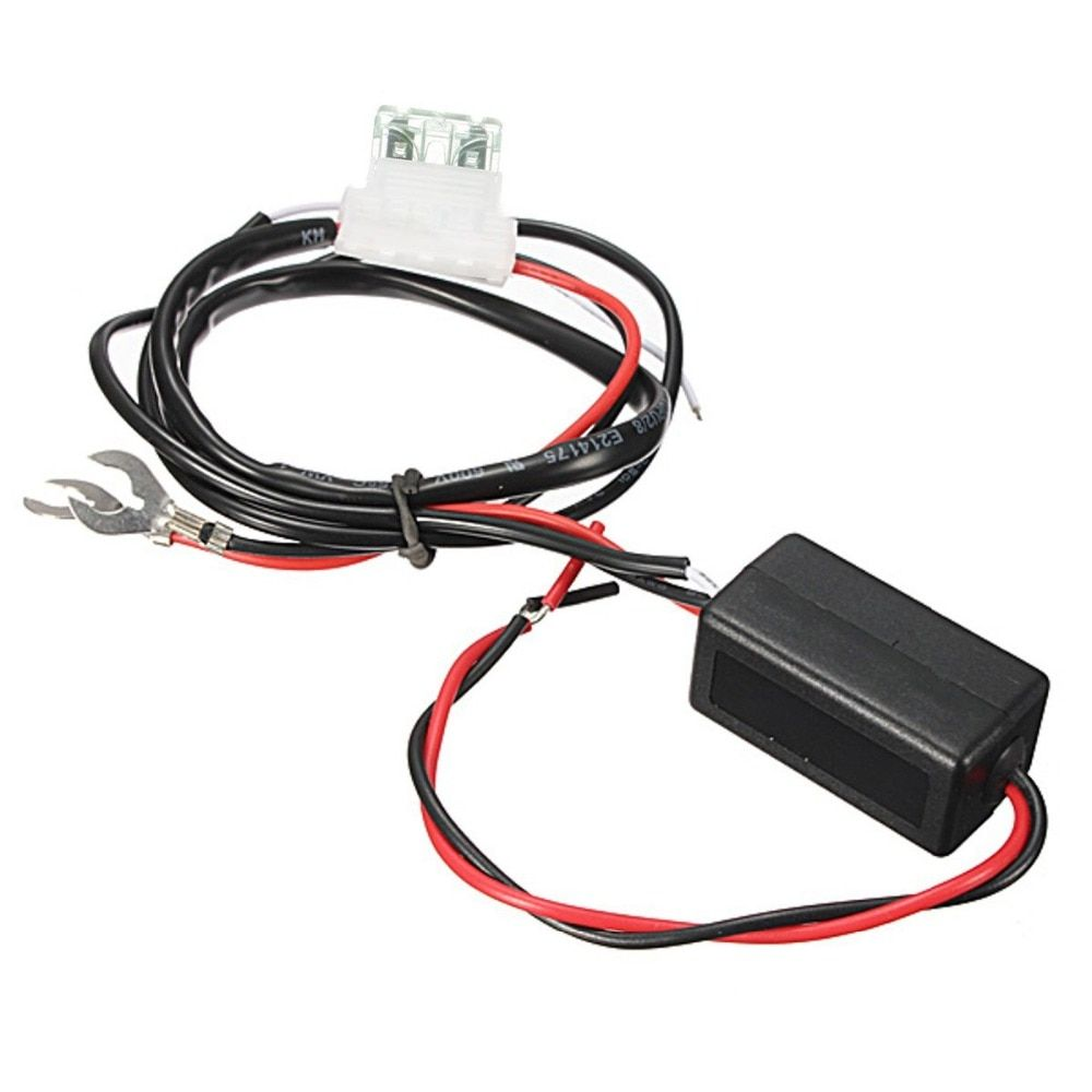 12V 2A Car LED DRL Relay Daytime Running Light Relay Harness Auto Car Controller On/Off Switch Parking Light