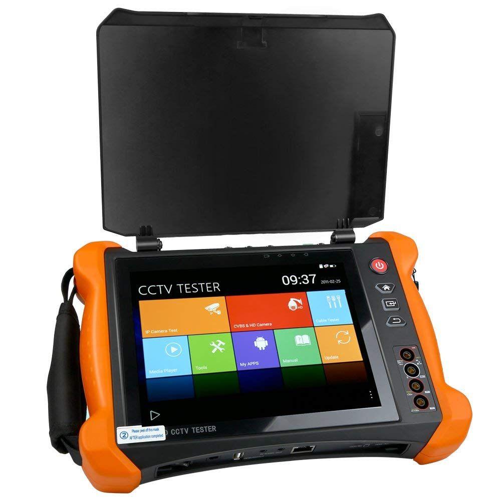 8 Inch H.265 4K HD IP CCTV Tester Monitor CVBS AHD CVI TVI SDI Camera 8MP MultimeterOptical fiber VFL TDR WIFI ONVIF HDMI Input