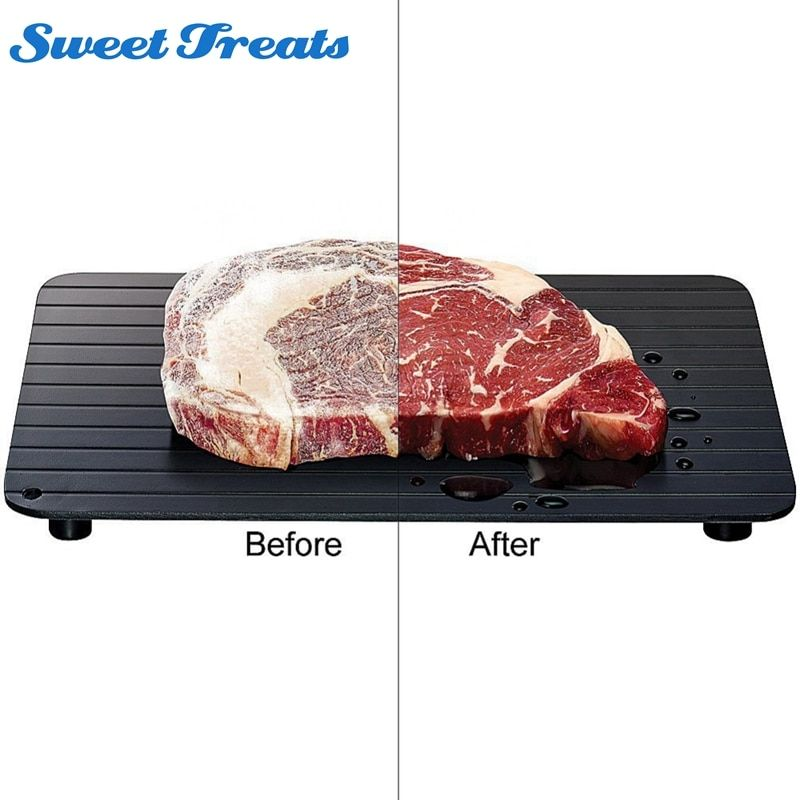 Sweettreats High Quality Fast Defrosting Tray Defrost Meat or Frozen Food Quickly Without Electricity Microwave
