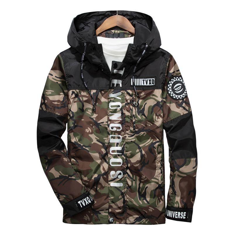 2017 neue Frühjahr Männer Marke Kleidung 3 mt Reflektierende Jacke Casual Camouflage Männlichen Windbreaker Zipper Mit Kapuze Bomber Jacken Und Mantel