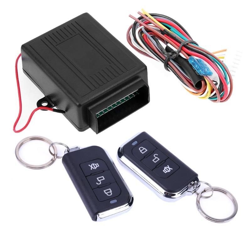 Car Auto Remote Central Kit Door Lock Locking Vehicle Keyless Entry System With Remote Controllers Car alarm System Universal