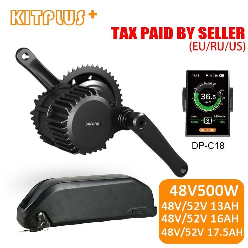 Bafang 8Fun BBS02 Elektrische Bike Kit 48 V 500 W E-bike Kit Elektrische Motor Mitte Stick mit 48 v/52 V 13AH/16AH/17.5AH Ebike Batterie