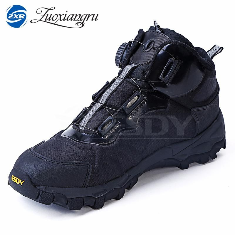 2017 New Men Lightweight Non-slip outdoor breathable and waterproof sport trekking shoes automatic Lace-up Leather Hiking Shoes