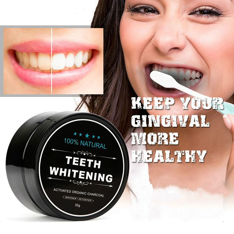 Teeth Whitening Scaling Powder Bamboo Oral Teeth Care Cleaning Activated Charcoal Tooth Powder Clareamento Dental