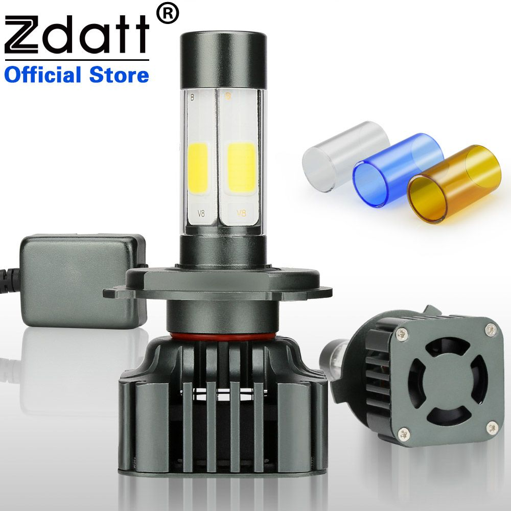 Zdatt 2Pcs H4 Led Bulb H7 H8 H9 H11 9005 HB3 9006 HB4 100W 12000LM Moto Auto Headlight Canbus COB Car Led Light 12V Automobiles