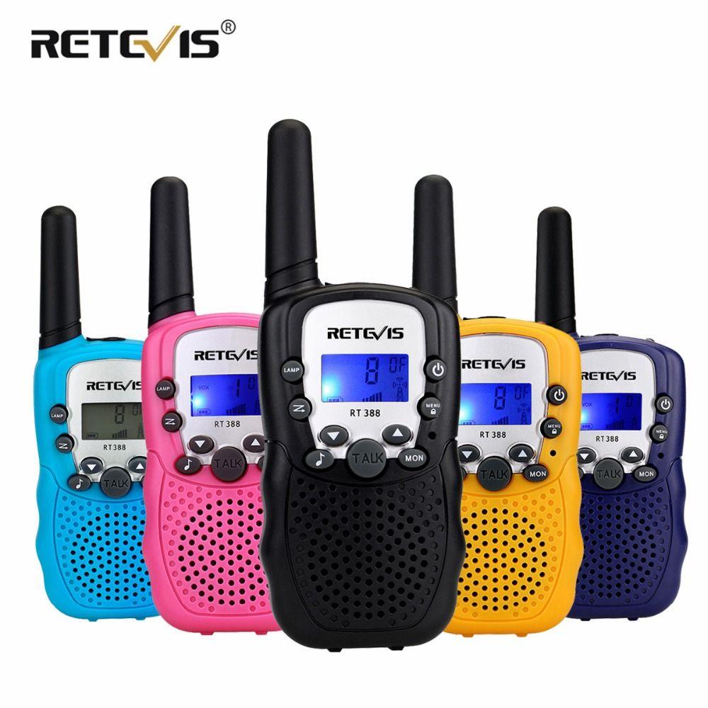 2pcs Retevis RT388 Kids Walkie Talkie Children Toy Radio 0.5W PMR PMR446 FRS VOX Flashlight Handheld 2 Way Radio Hf Transceiver