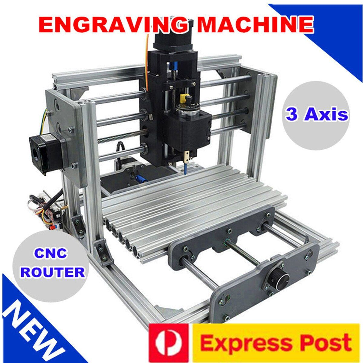 2417 3 achse Mini DIY CNC Router Holz Verlangen Gravur Schneiden Fräsen Desktop Stecher Maschine 240x170x65mm