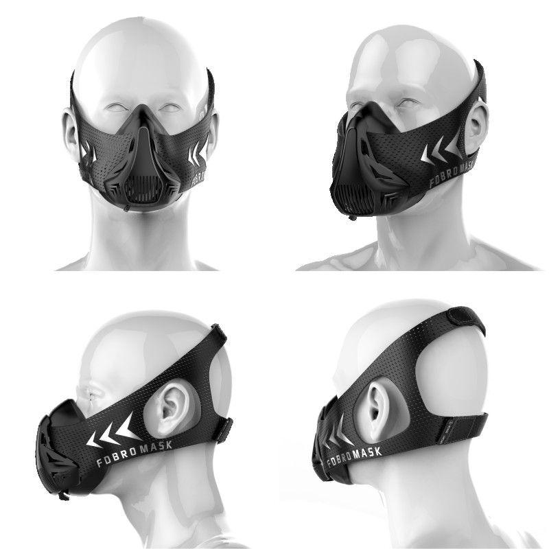 FDBRO Masques De Sport Vente Chaude Hommes Femmes Phantom Bonne Qualité Formation Sport Fitness Mask2.0 Bonne Qualité EVA Paquet Avec BoxFree