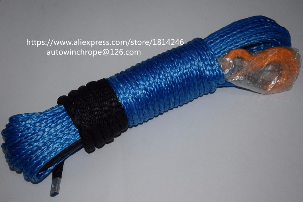 Free Shipping 8mm*30m Blue Synthetic Winch Cable,Winch Rope Extenstion,ATV Winch Line,Off Road Rope