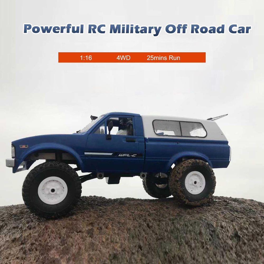 2018 New WPL C24 RC Car 1:16 4WD Radio Control Off-Road Mini Car RTR Rock Crawler Electric Buggy Moving Machine RC Car Kids Car