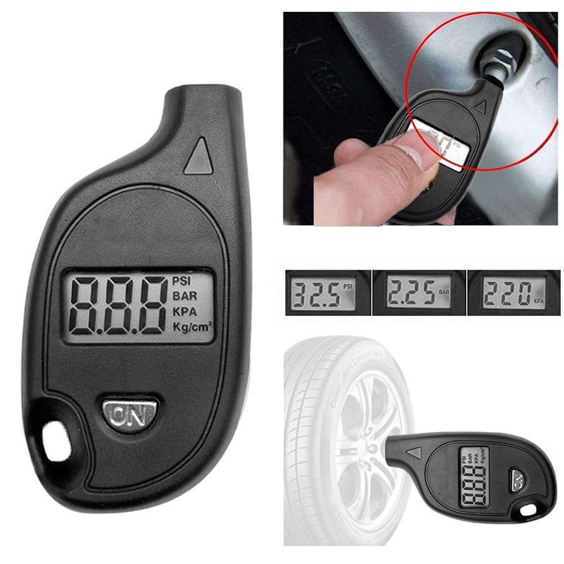 Diagnostic-tool 2-150PSI Diagnostic Tool Digital LCD Display Keychain Tire Air Pressure Gauge Vehicle Motorcycle Car-detector