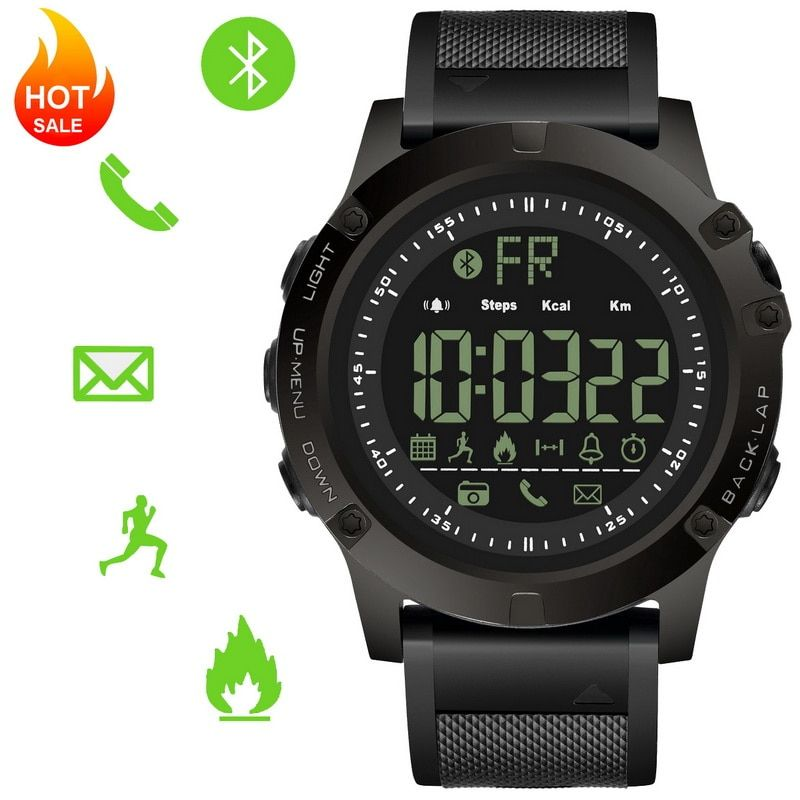 Fitness Tracker Digital Sports Bluetooth Smart Watch Pedometer Call Message Alert Reminder Smartwatch Men Boys IOS and Android