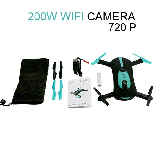 JY018 ELFIE WiFi FPV <font><b>Quadcopter</b></font> Mini Foldable Selfie Drone RC Drone with 0.3MP / 2MP Camera HD FPV VS H37 720P RC Helicopters