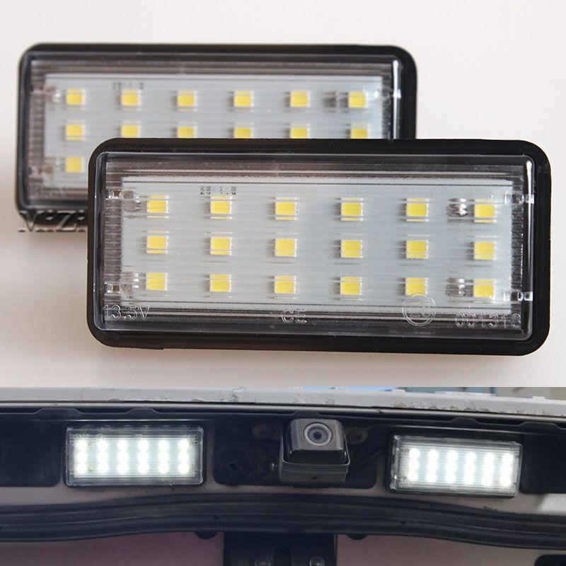 ОШИБОК белый автомобиль светодиодный номер Номерные знаки для мотоциклов свет комплект для Lexus LX470 GX470 Toyota Land Cruiser 120 Prado Land Cruiser 200