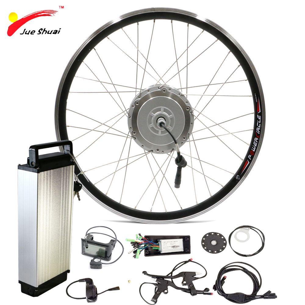 48V 250W 350W 500W Front Motor Wheel with Lithium Ion Battery for 700c Bike Wheel Ebike E-bike Sets Electric Bike Conversion Kit