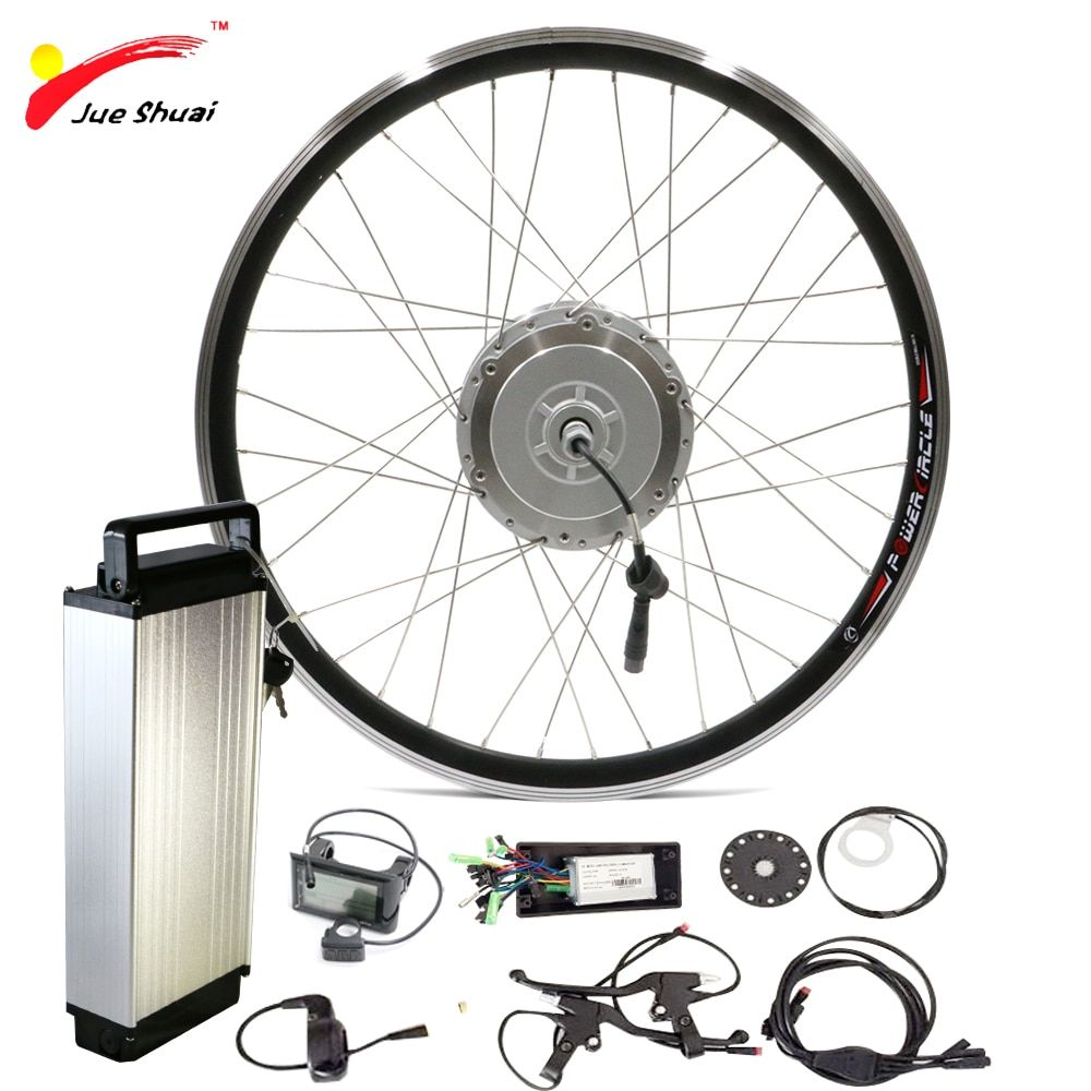 48V 250W 350W 500W Front Motor Wheel with Lithium Ion Battery for 700c Bike Wheel Ebike E-bike Sets Electric Bike Conversion Kit