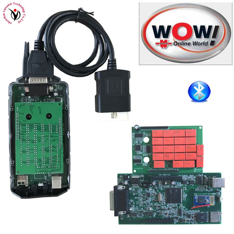 NEW Design A+ Real 5.008R2+5.00.12 Keygen WOW Snooper CDP Bluetooth With Full Body Cover VD TCS CDP Pro for OBD2 cars and trucks