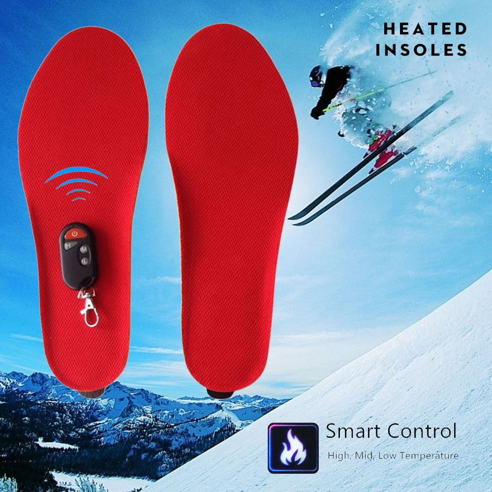 Best gift warm Heated insoles soles Winter thick plush insoles with fur keep feet warm and comfortable for men women shoes