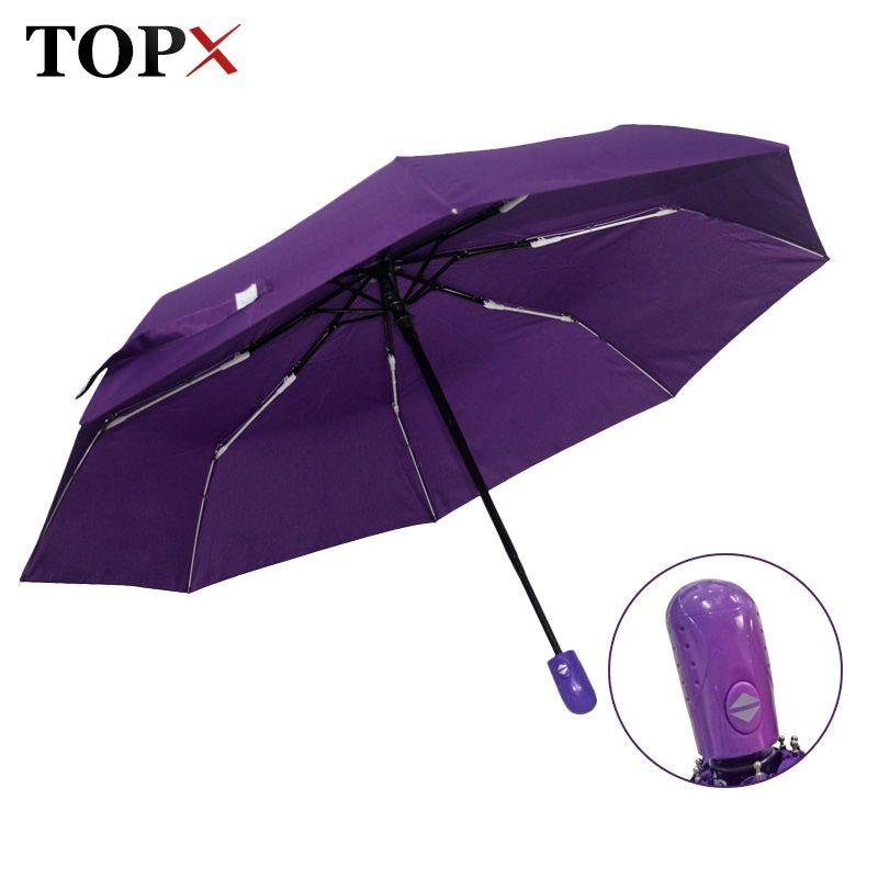Новый автоматический зонт дождя Для женщин Для мужчин 3 складной легкий и прочный сильный красочные Зонты дети Дождей Солнечный цена оптово...