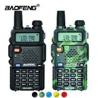 2 шт. Baofeng UV-5R Walkie Talkie UV5R CB радиостанции 5 Вт 128CH УКВ Dual Band УФ 5R двухстороннее радио для охоты Любительское радио