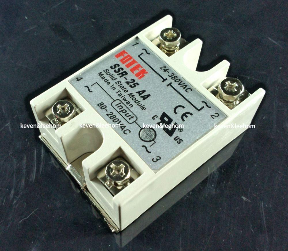 Solid state relais SSR-25AA 25A tatsächlich 80-250 v AC ZU 24-380 v AC SSR 25AA relais solid state