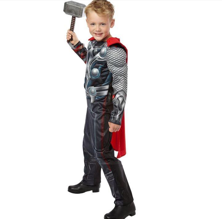 Cagiplay бросился Мстители Тор Классический Мышц платье для костюмированной вечеринки для мальчиков Хэллоуин карнавальные костюмы Дети фанта...