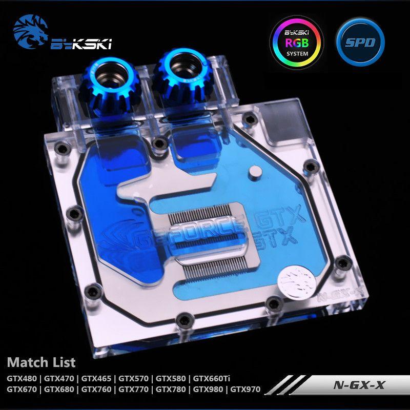 Bykski GTX980 970 780 770 680 670 660TI 580 570 480 470 465 Graphics Card Water Block Half-Coverage N-GX-X