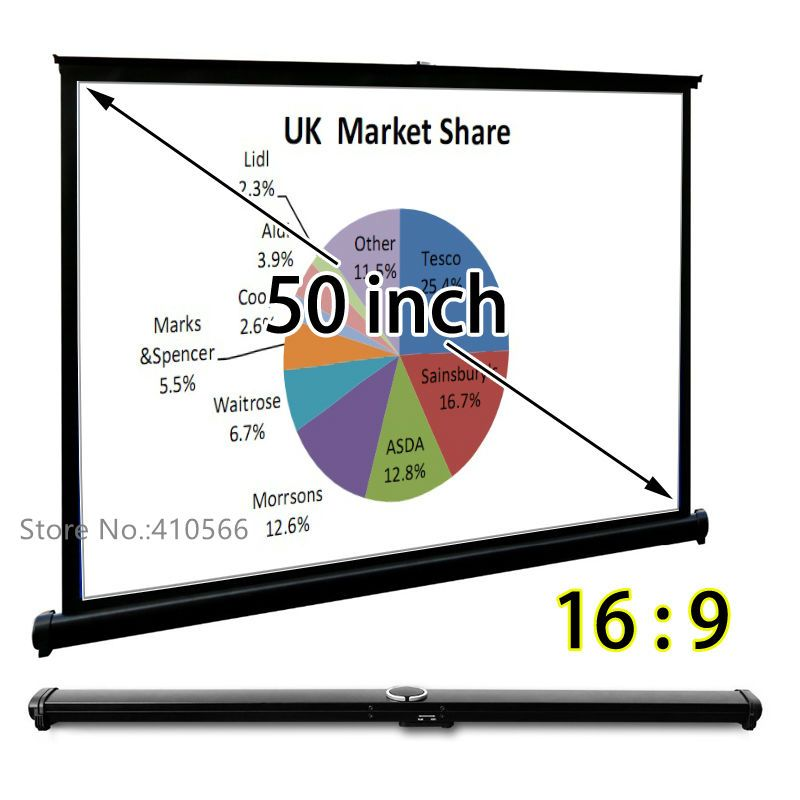 Portable Table Projection Screen 50