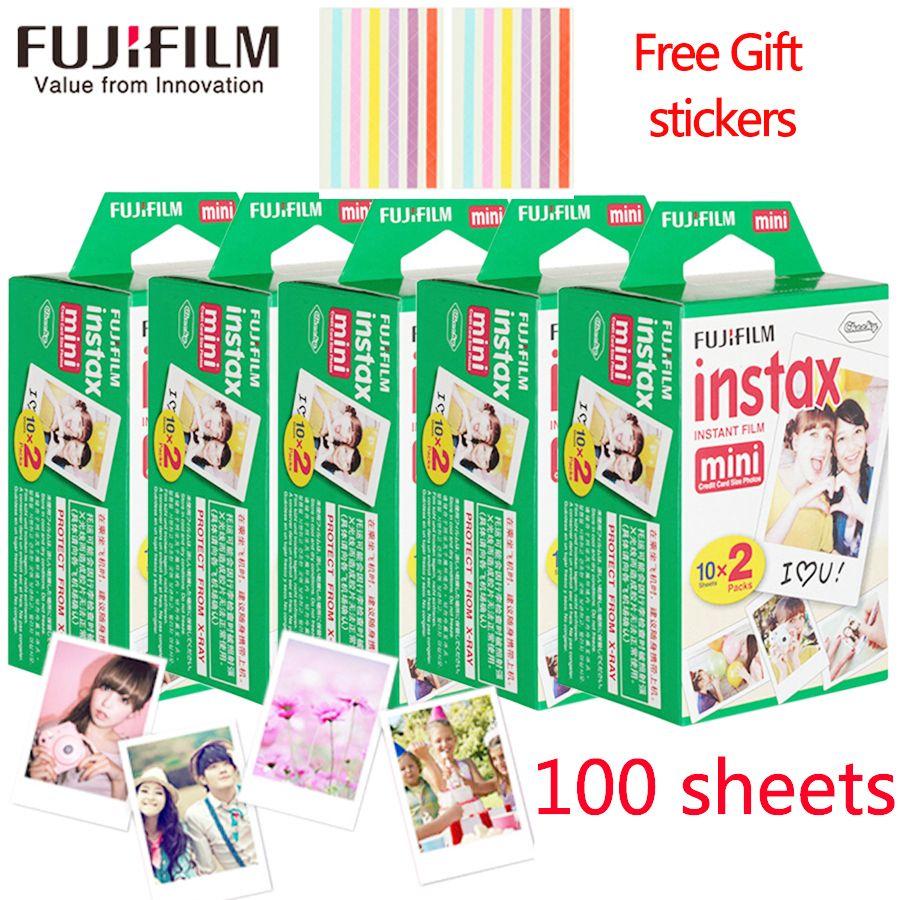 New 100 sheets Fujifilm instax mini 9 film white Edge 3 Inch wide film for Instant Camera mini 8 7s 25 50s 90 Photo paper