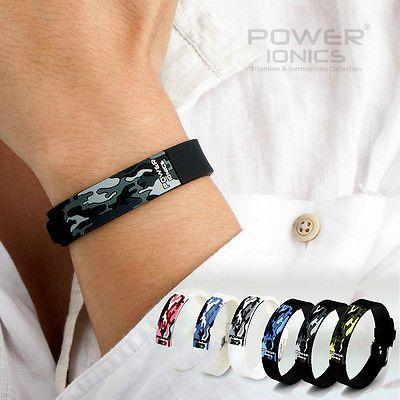 Puissance Ionics Titane Ion FIR 3D Camo Bracelet Bracelet D'équilibre de L'énergie PT048