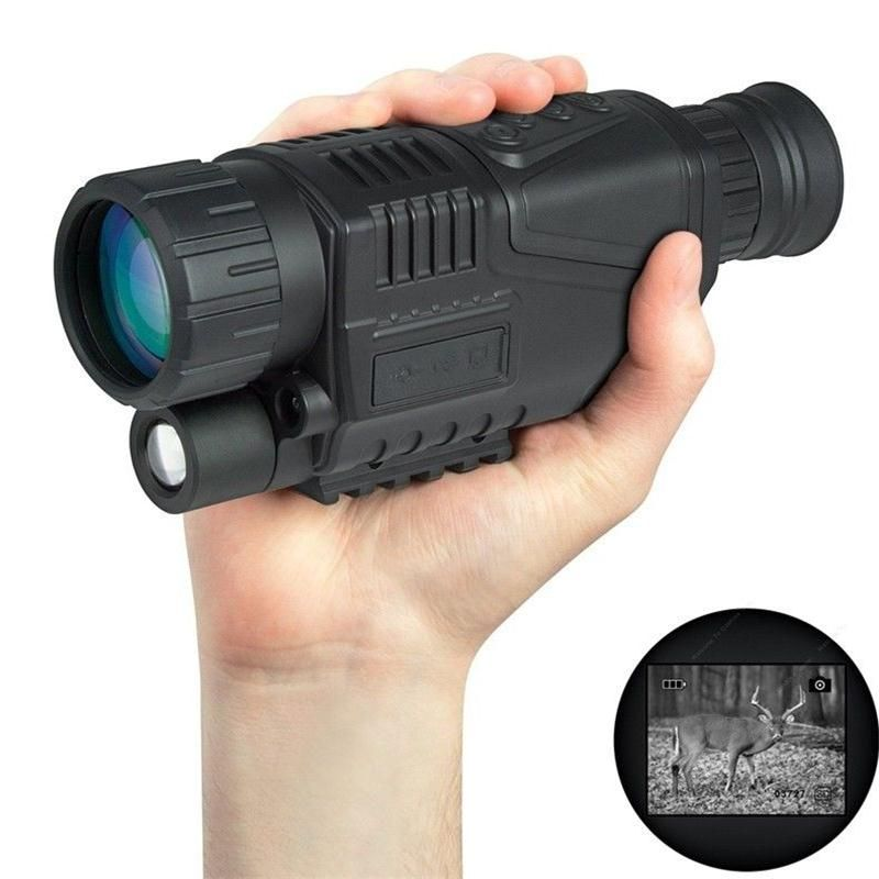 BOBLOV WG-37 Tactical Digital IR Infrared Night Vision Monocular Scope 200m 5X40 Zoom Record DVR Free One Battery