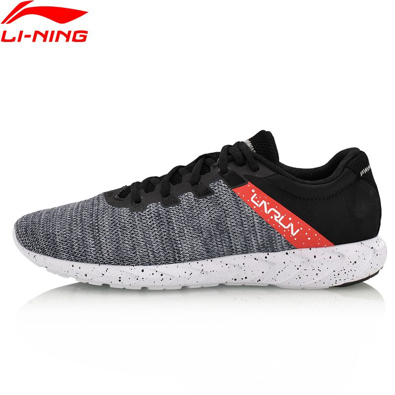 Li-Ning Men's Future Runner Sport Light Running Shoes Breathable Textile Sneakers Comfort Fitness Sports Shoes ARBN003 XYP628