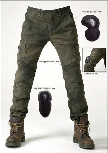 2016 Newest Hot sales Uglybros MOTORPOOL UBS06 jeans Leisure motorcycle jeans pants of locomotive army motor pants two colors