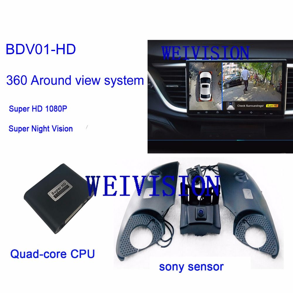 WEIVISION 360 Super 1080P Bird View Panorama System, Car DVR Recording, surround view system for Toyota Prado, Land Cruiser