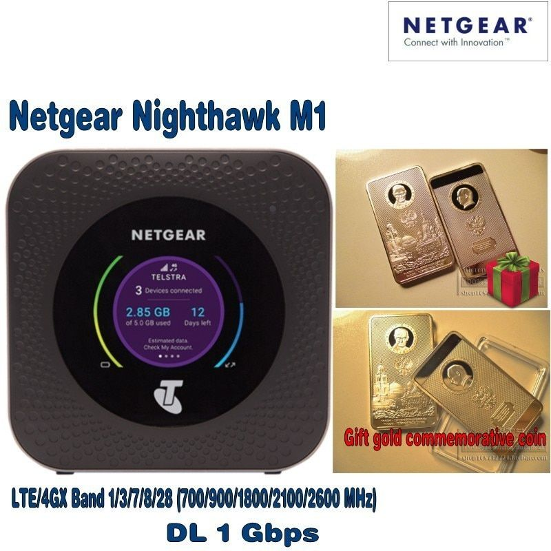 Netgear Nighthawk M1 4GX Gigabit LTE Mobile Router with free gift