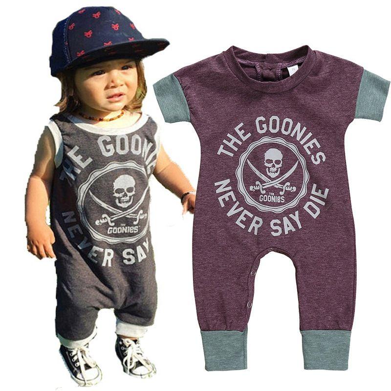 Bébé infantile 2019 barboteuses d'été enfants mode Pirate garçon fille combinaison joyeux anniversaire fête enfants enfants vêtements pour 0-5y barboteuse