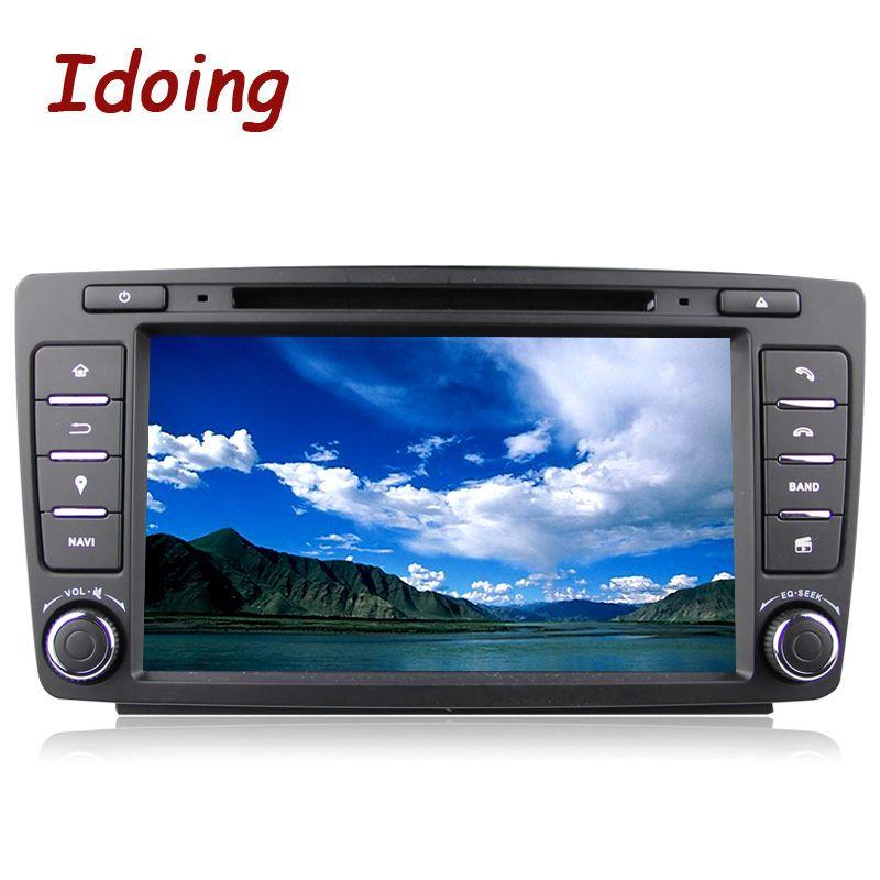 Idoing 2GB+16G/32G Steering-Wheel 2Din Android6.0/8.0 For Skoda Octavia 2 Car DVD Multimedia Player GPS Navigation Fast Boot