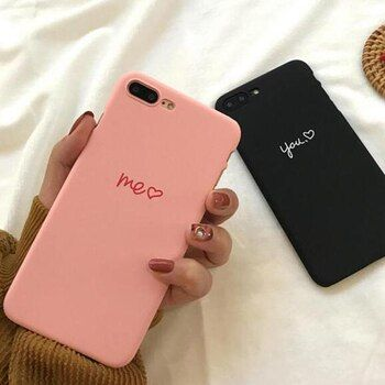 Rose Me Noir Vous amour Coeur Forme Amateurs PC Dur Cas de Téléphone Couverture Fundas Coque Pour iphone 6 S 7 7 Plus 6 S 6 Plus 8 8 Plus X