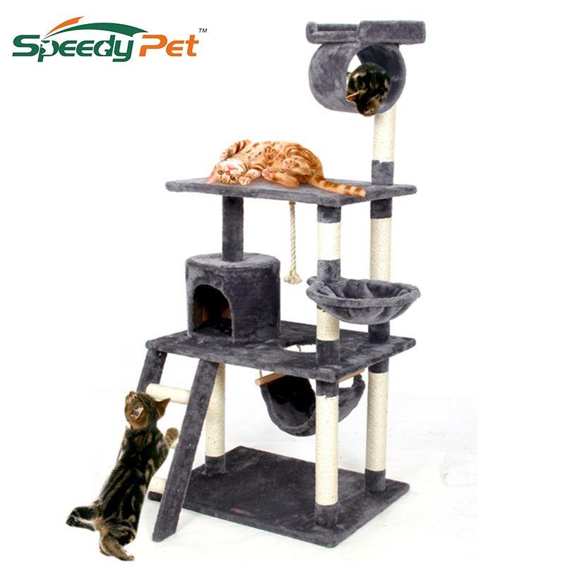 2018 Pet Cat Climbing Frame Animal Puppy Multi-layer Cat Tree Cat Scratch PAWZ Road Cat Tree Board Condo Luxury Furniture