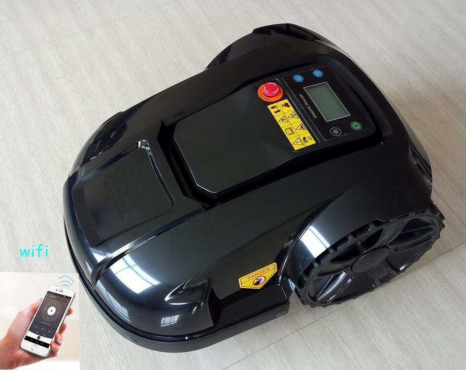 WIFI control wasserdichte roboter rasen mover auto glas cutter mit led-anzeige, Zeit set-up system