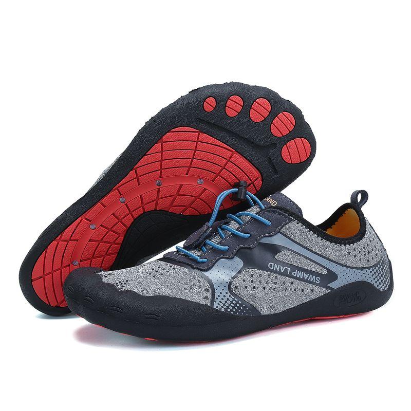Été eau chaussures femme plage sandales respirant pieds nus chaussures hommes Aqua chaussures en amont plongée natation chaussettes Tenis Masculino