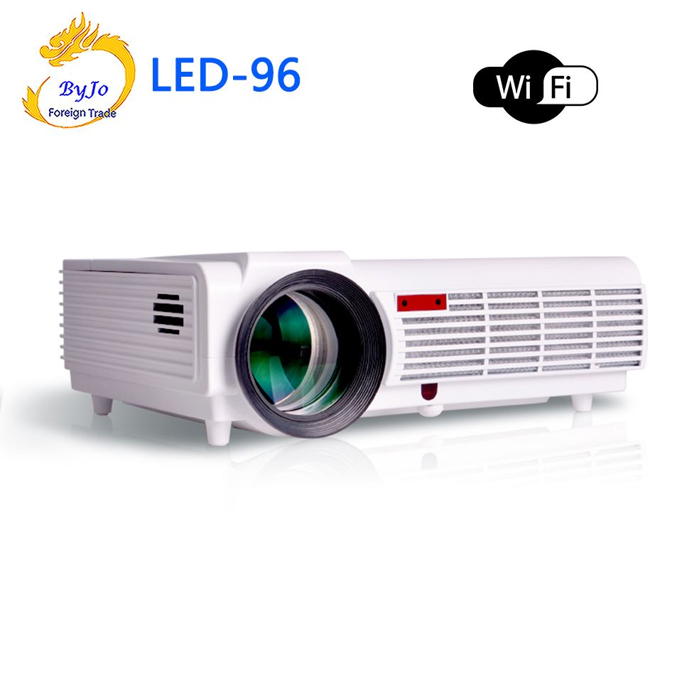 LED96 wifi led projector 3D android wifi hd BT96 proyector 1080p HDMI Video Multi screen  home theater Home theater system