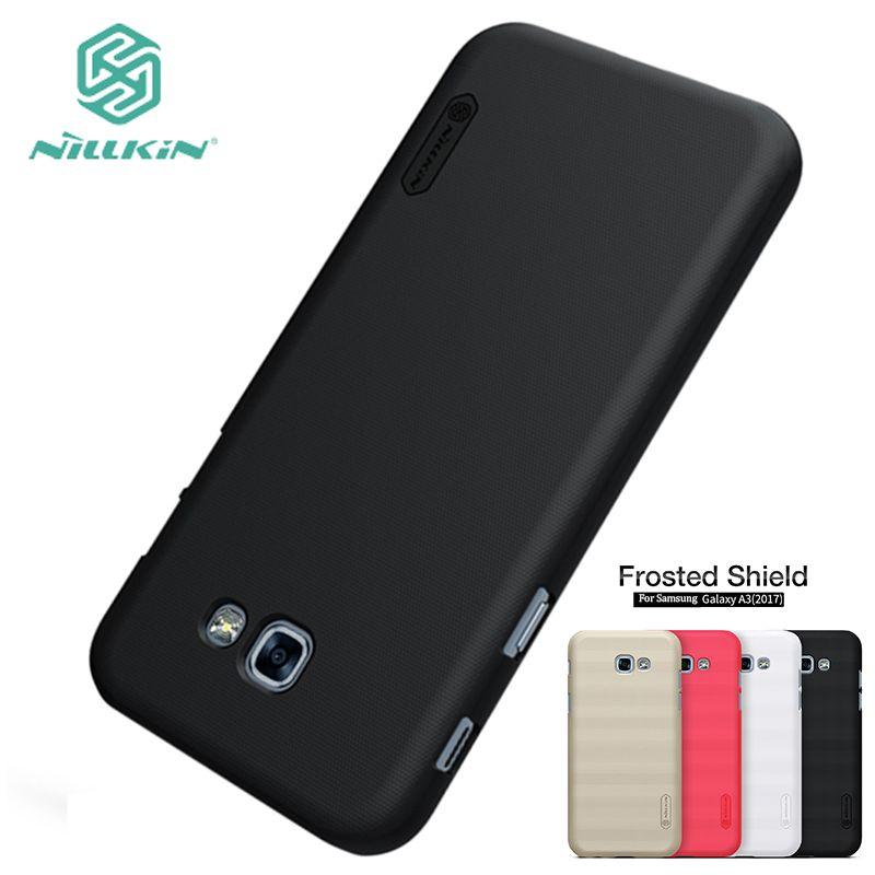 Pour Samsung Galaxy A3 2017 Cas NILLKIN Hight Qualité Super givré Bouclier Pour Samsung Galaxy A3 2017 Couverture + Écran protecteur