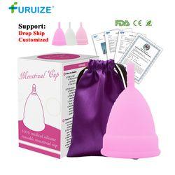 Горячая Распродажа, менструальная чашка для женщин, Женская гигиена, медицинский 100% силиконовый стакан, менструальная многоразовая Дамска...