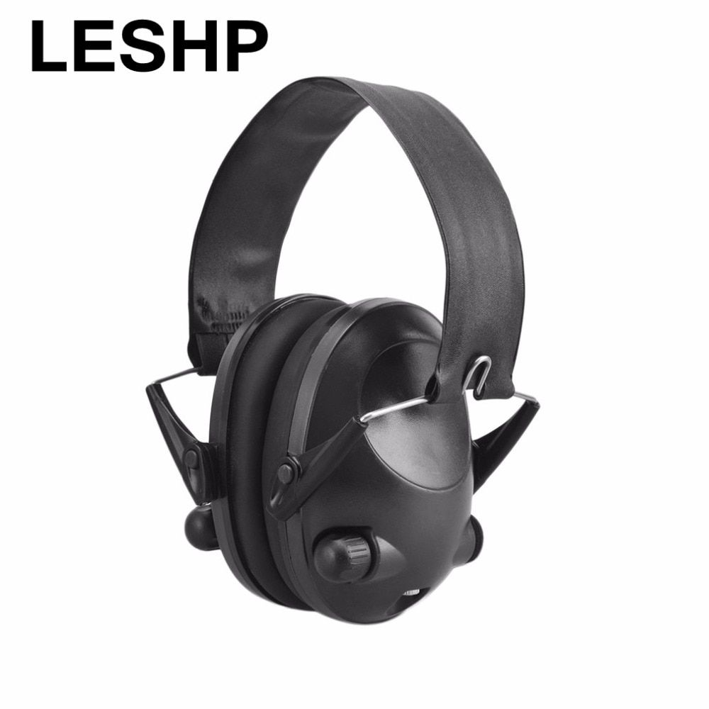 LESHP Tactical 6s Noise Cancelling 21DB Tactical Shooting Headset Soft Padded Headset Shooting Hunting Airsoft Earphone