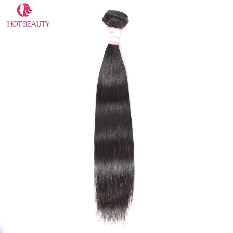Chaude Beauté Cheveux Péruvienne Cheveux Raides Weave Bundles 10-28 pouce 1 pièce Naturel Couleur Remy de Cheveux Humains Peut mélanger Acheter 3 ou 4 Bundles