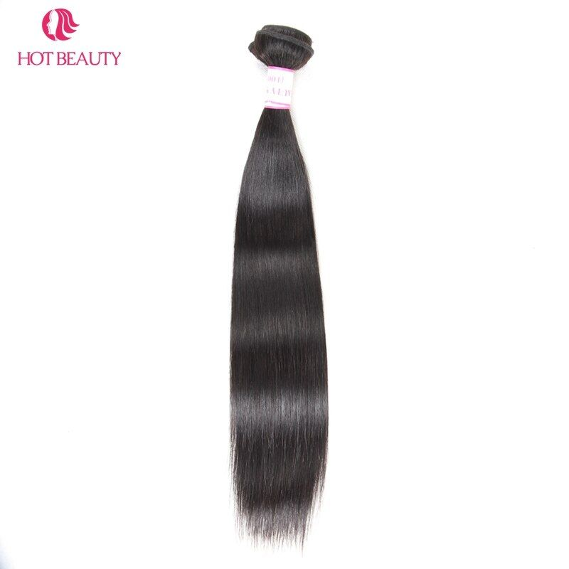 Hot Beauty Hair Peruvian Straight Hair Weave Bundles 10-28 Inch 1 Piece Natural Color Remy Human Hair Can Mix Buy 3 or 4 Bundles