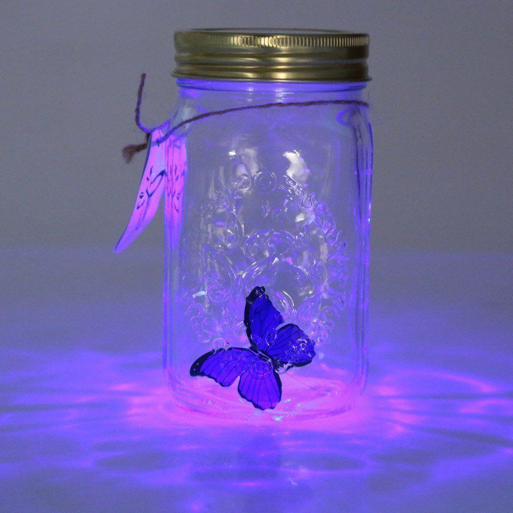 ZINUO nouveauté lumière papillon pot avec lampe romantique verre lampe à LED papillon dans un pot saint-valentin enfants cadeau décoration de la maison