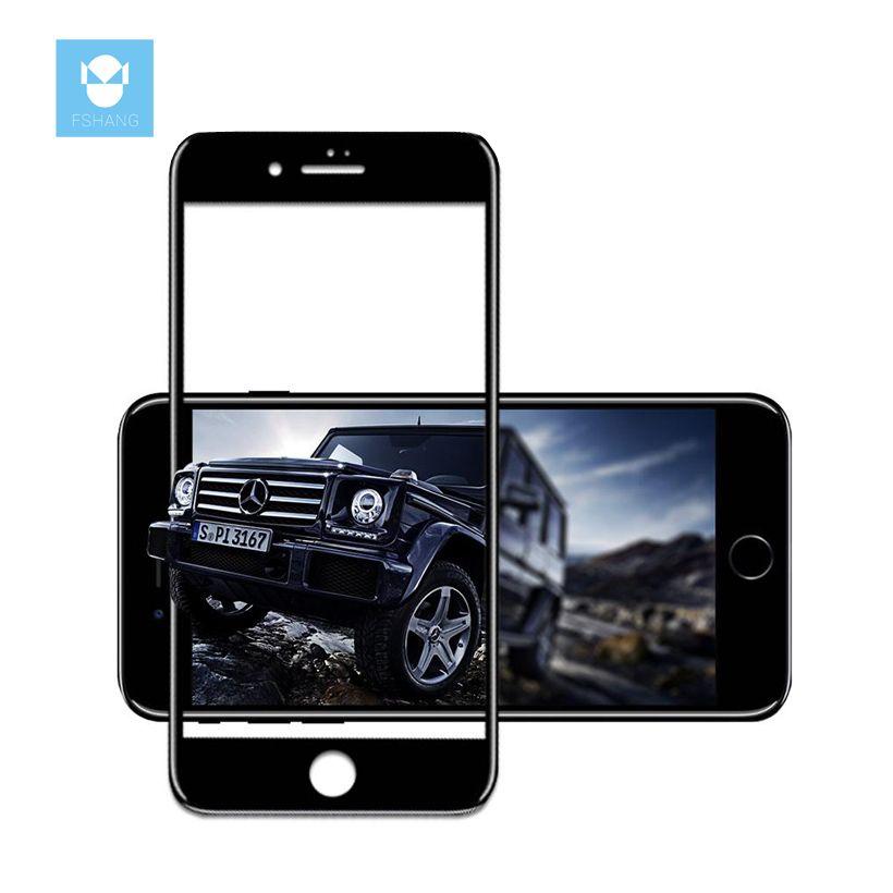 FSHANG Trempé Verre pour iphone 7 3D Couvercle Plein Écran Trempé De Protection Pour iphone7 Plus Protecteur D'écran premium version